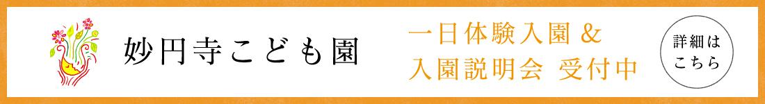妙円寺こども園一日体験入園&入園説明会